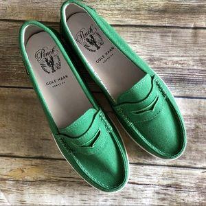 Cole Haan Pinch Weekender Green Canvas Loafer 8